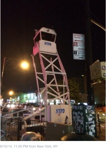 The NYPD Tower is a regular sight on Dyckman Street  (Facebook)