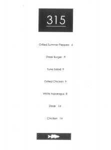 Proposed 315 menu