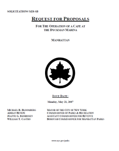Cover of RFP